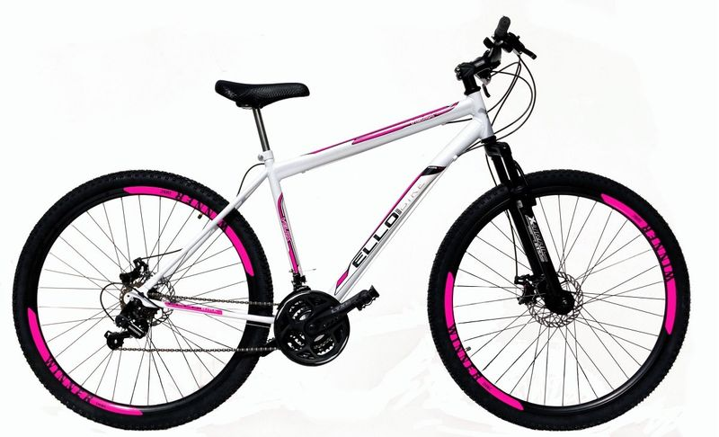 Bicicleta Ello Bike Velox Aro 29 Susp. Dianteira 21 Marchas - Branco/rosa