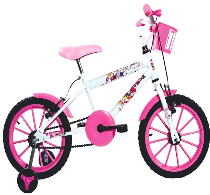 Bicicleta Ello Bike Paty Aro 16 Rígida 1 Marcha - Branco/rosa