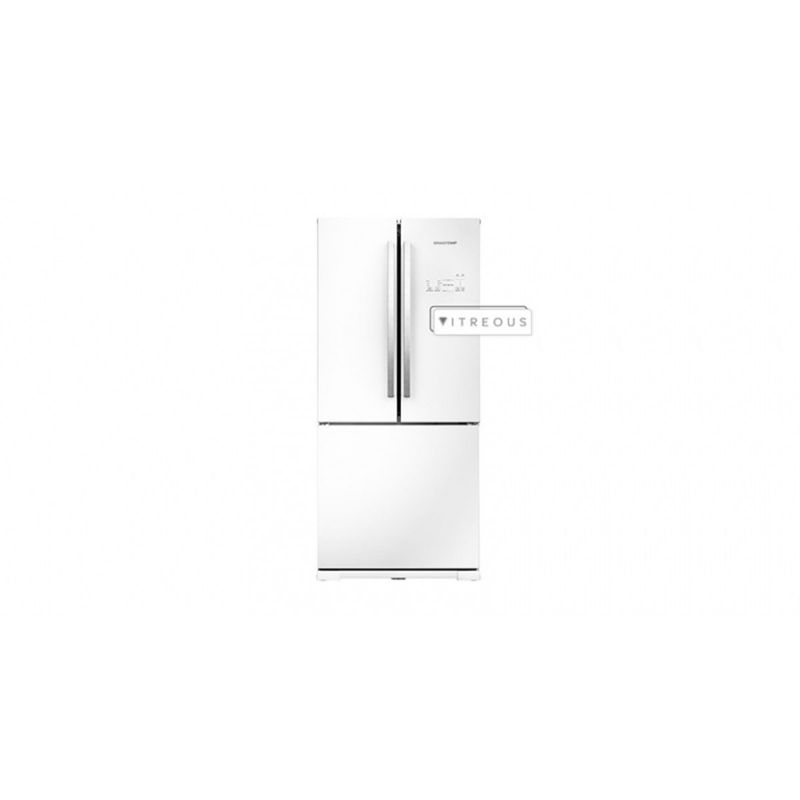 Geladeira/refrigerador 540 Litros 3 Portas Branco Frost Free Side Vitreous - Brastemp - 220v - Gro80abbna