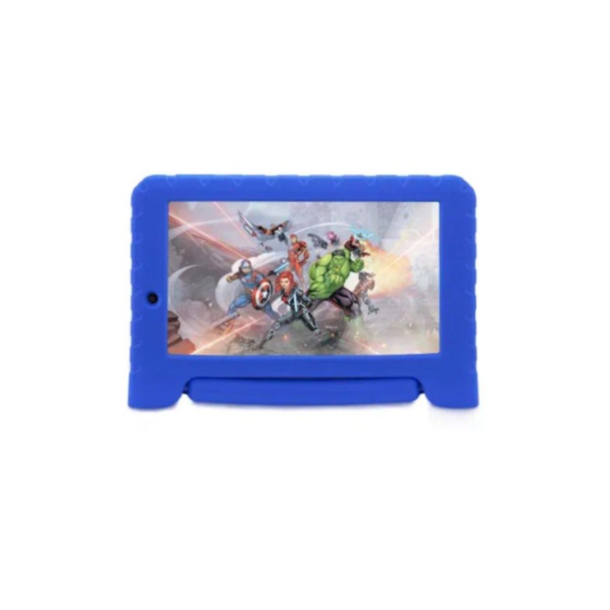 Tablet Multilaser Disney Vingadores Plus Nb307 Azul 16gb Wi-fi