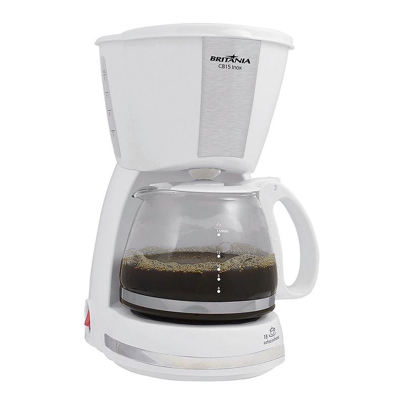 Cafeteira Elétrica Britania Inox Branco 220v - Cb15