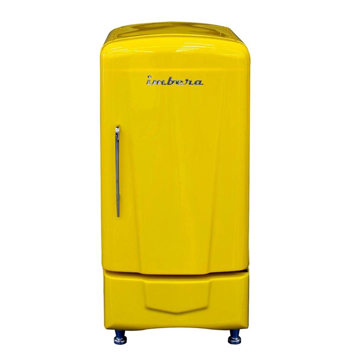 Geladeira/refrigerador 107 Litros 1 Portas Amarelo - Imbera Beyond Cooling - 220v - Ccv-72