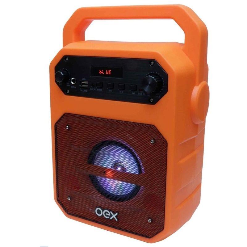 Caixa de Som Oex Fun - Laranja Sk415
