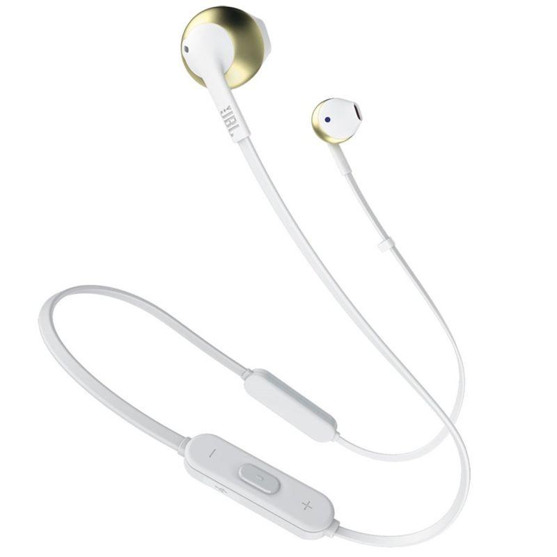 Fone de Ouvido Tune Bluetooth Dourado Jbl Jblt205btcgd