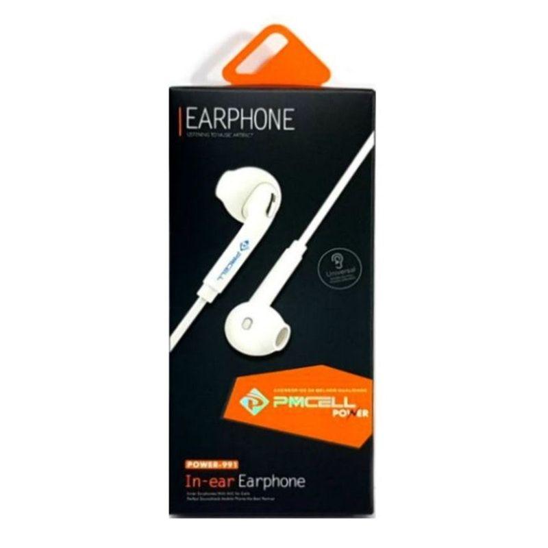 Fone de Ouvido Auricular Power991/897 Branco Pmcell