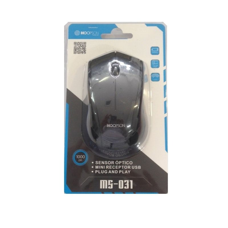 Mouse Wireless Óptico Led 1000 Dpis Ms-031 Hoopson