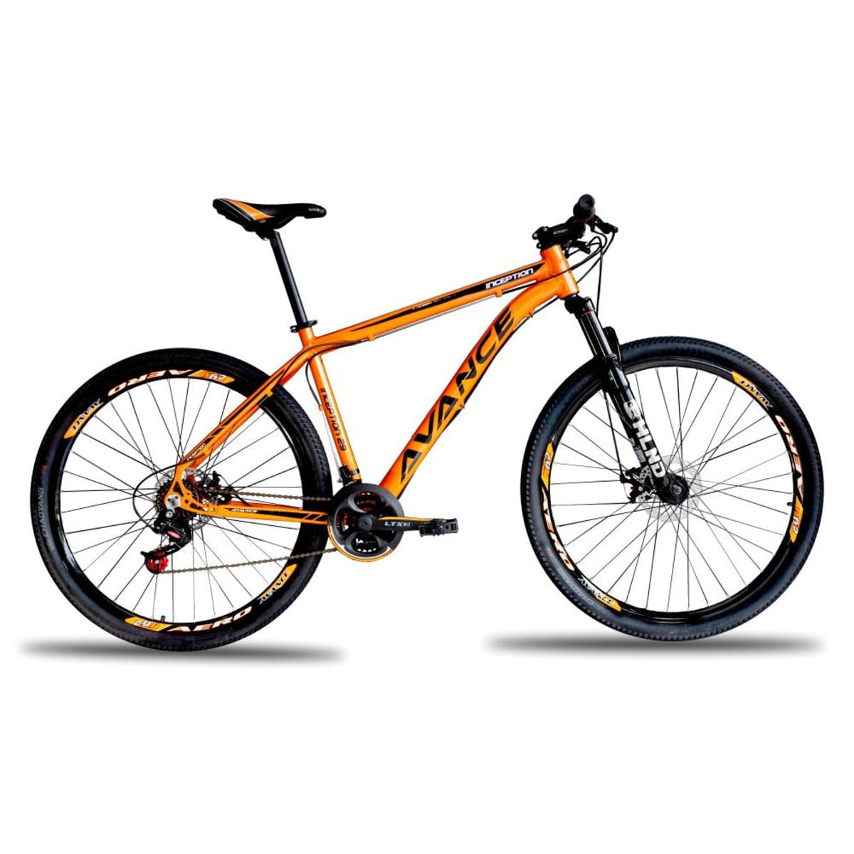 Bicicleta Avance Bike Tropper Aro 29 Susp. Dianteira 21 Marchas - Laranja/preto