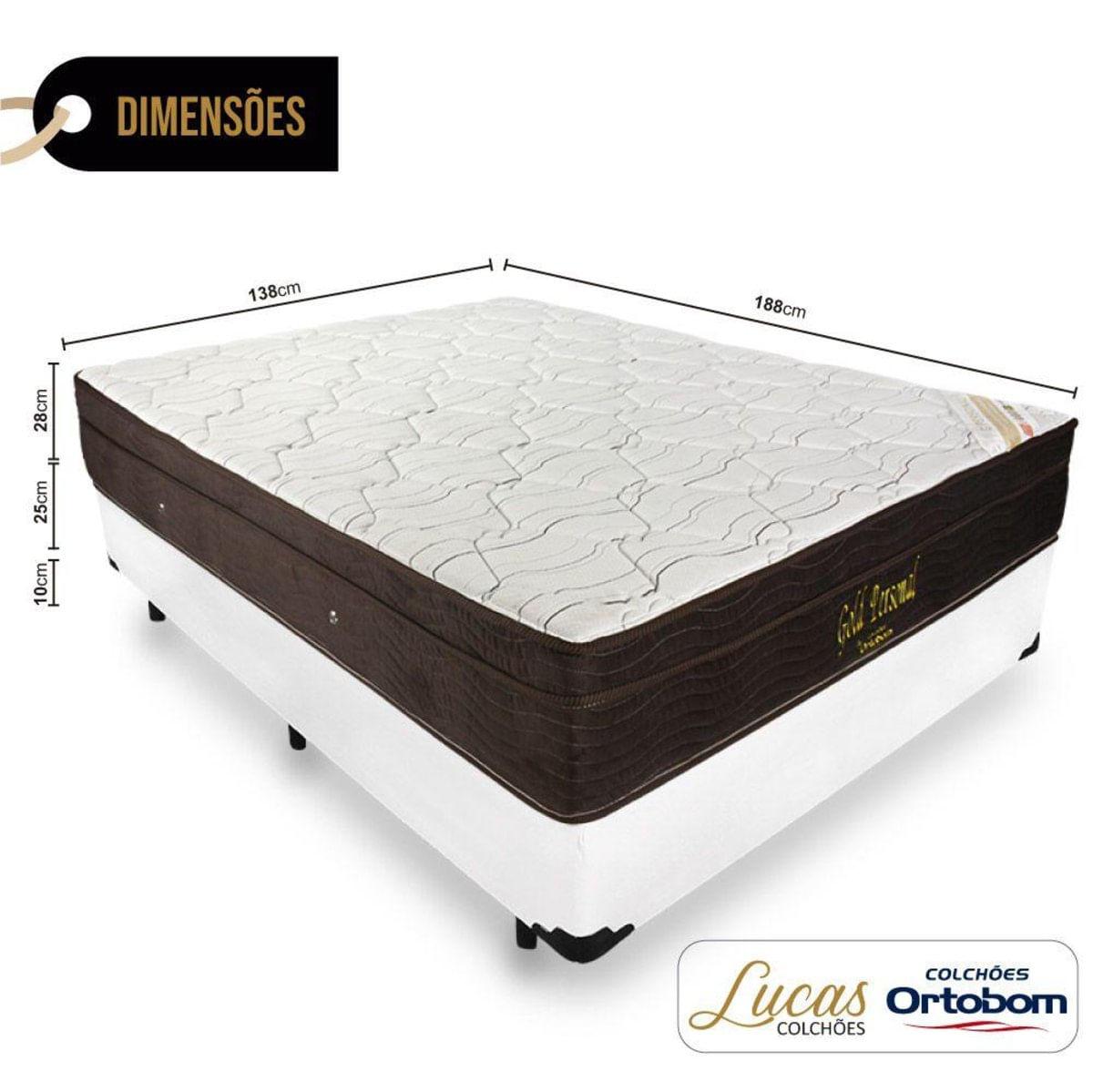 Cama Box Casal Colchao De Molas Ensacadas Ortobom Gold Personal 138cm Carrefour