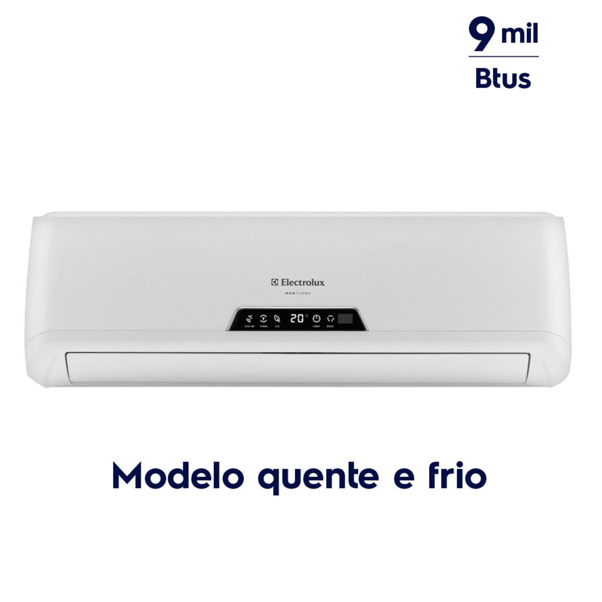 Imagem de Ar Condicionado Electrolux Split 9.000 Btus Quente/frio Ecoturbo VE09R / VI09R