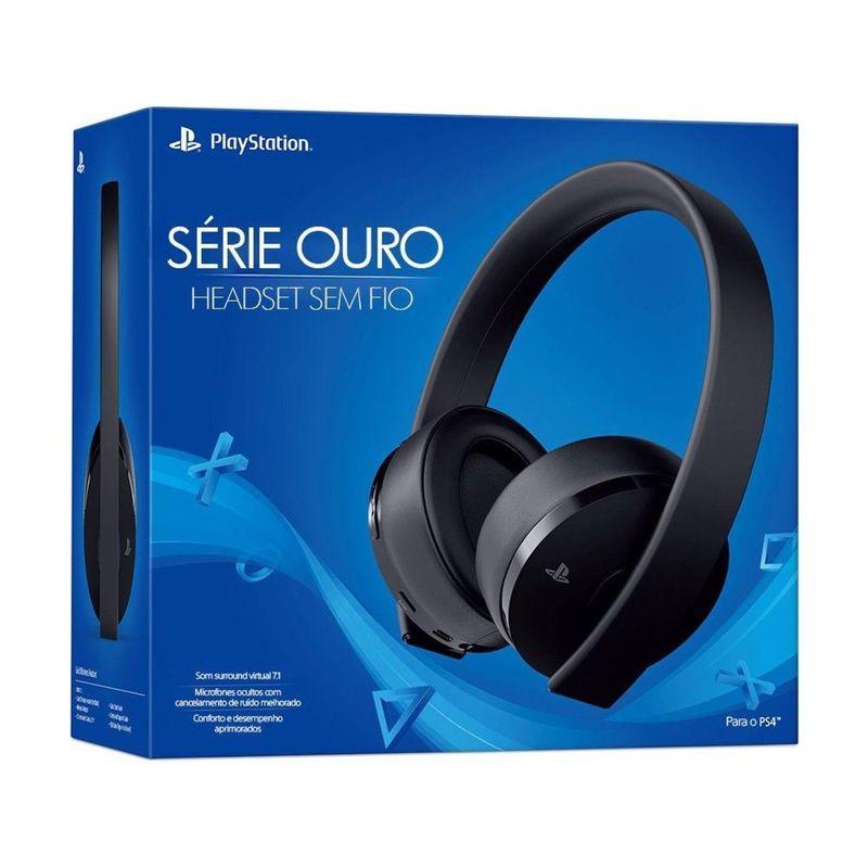 Fone de Ouvido Gold Wireless Stereo Headset 7.1 Sony