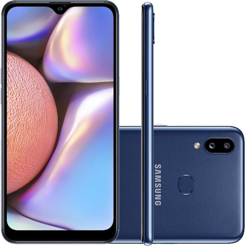 Celular Smartphone Samsung Galaxy A10s A107m 32gb Azul - Dual Chip