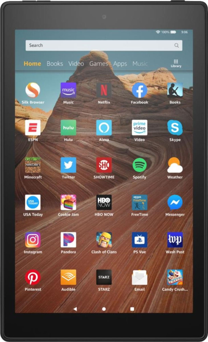 Tablet Amazon Fire Hd 2019 B07k2hbb1h Preto 64gb