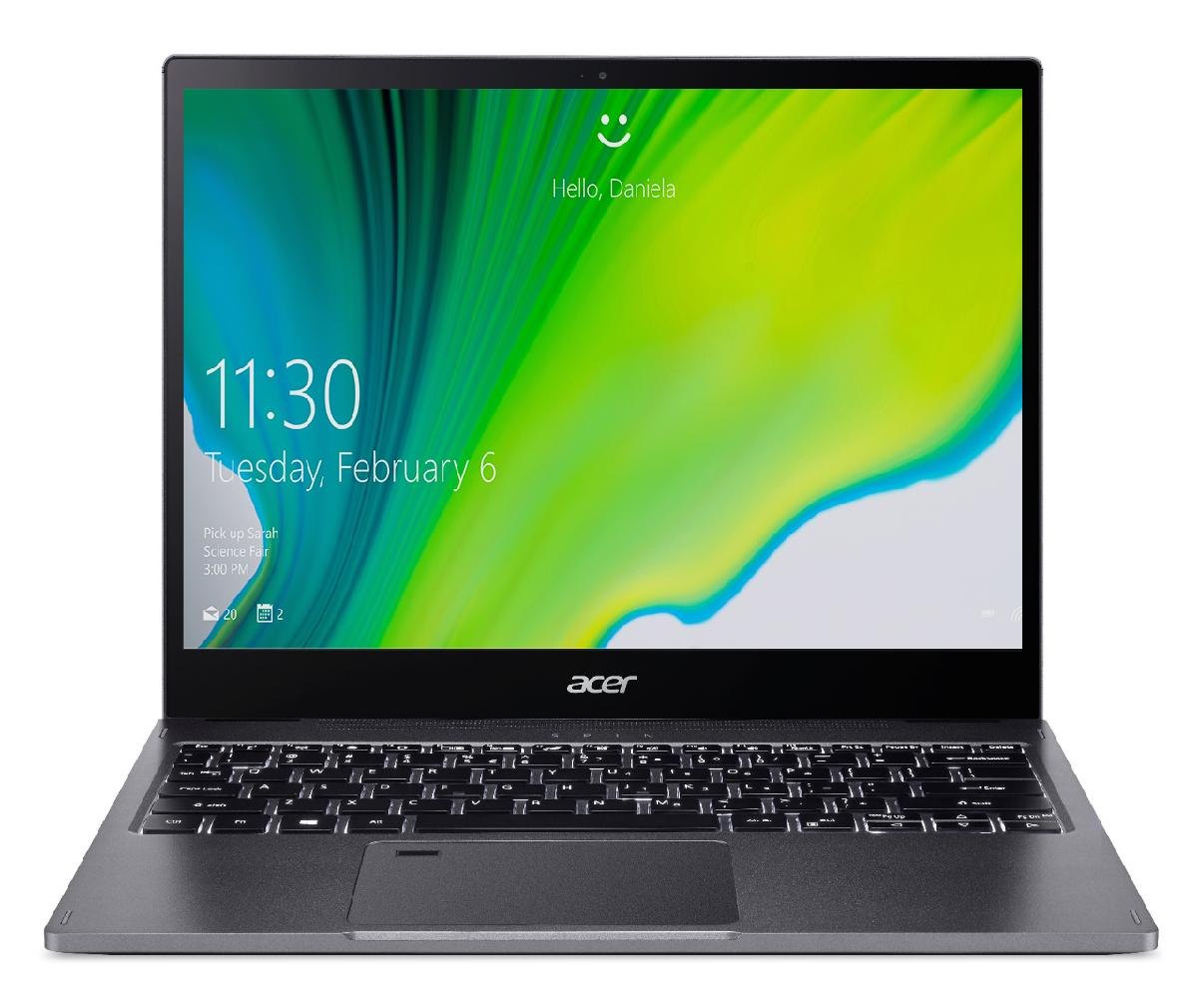 Notebook - Acer Sp513-54n-743j I7-1065g 1.30ghz 16gb 512gb Ssd Intel Hd Graphics Windows 10 Home Spin 5 13,5