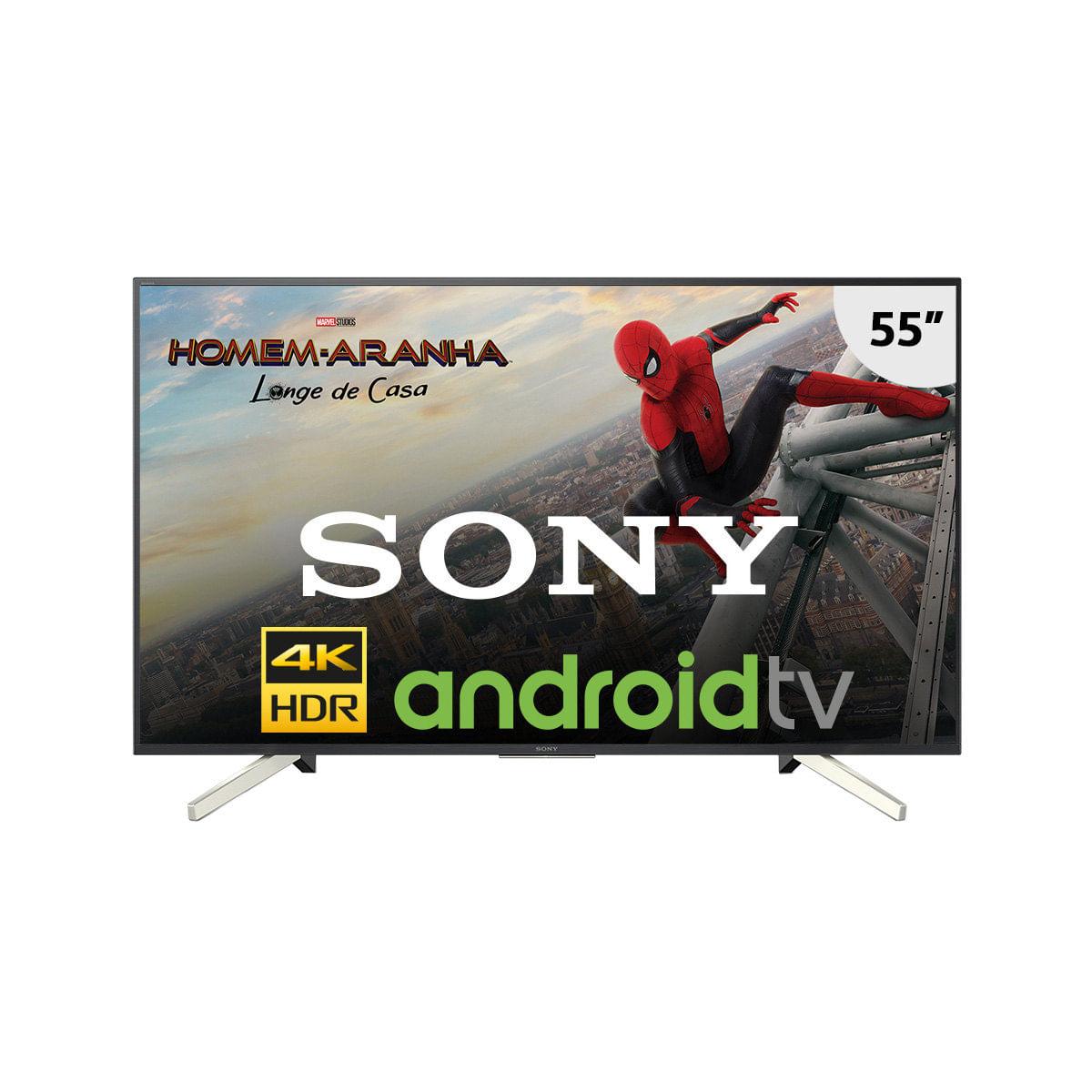 "Tv 55"" Led Sony 4k - Ultra Hd Smart - Kd-55x755f"