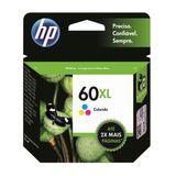 Cartucho HP 60XL Colorido Original (CC644WB)Para Deskjet F4224,F4480,F4580,D1660,Photosmart D110a