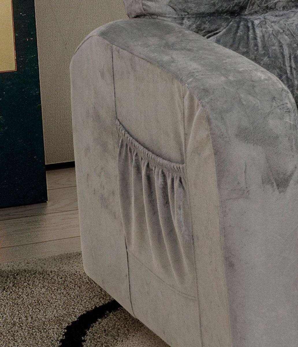 Poltrona Do Papai Reclinavel Matrix Azera Em Tecido Suede Cinza Carrefour Carrefour