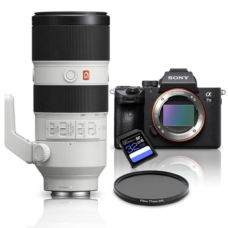 Câmera Digital Sony Alpha Preto 24.1mp - A7 Iii | 70-200mm