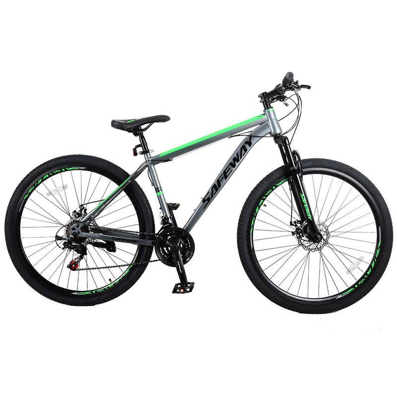 Bicicleta Safeway Aro 29 Susp. Dianteira 21 Marchas - Cinza/verde
