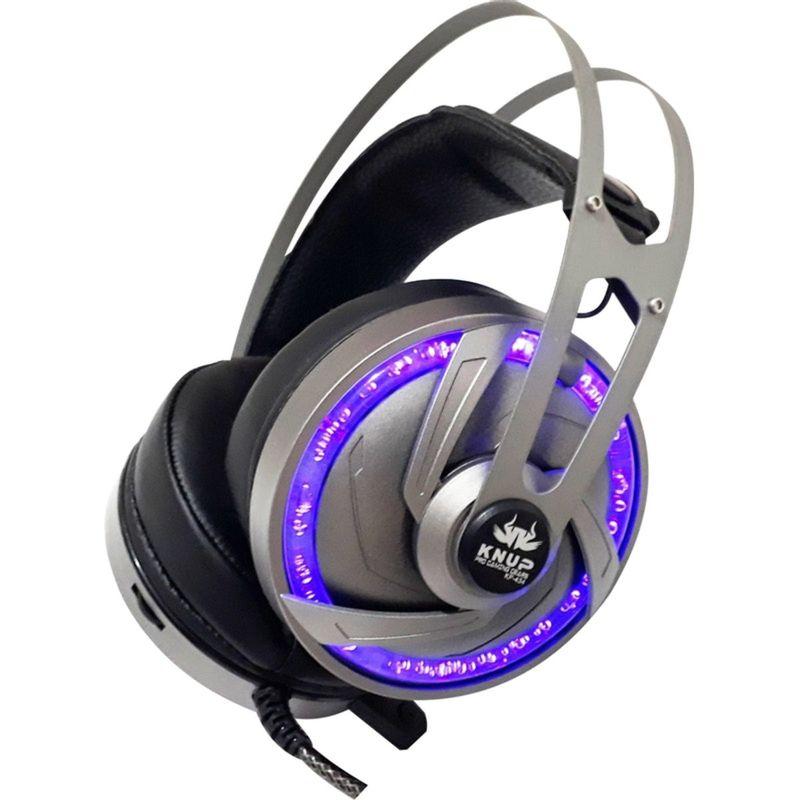 Fone de Ouvido Headset Gamer 7.1 Pc Led Com Microfone Knup Kp434