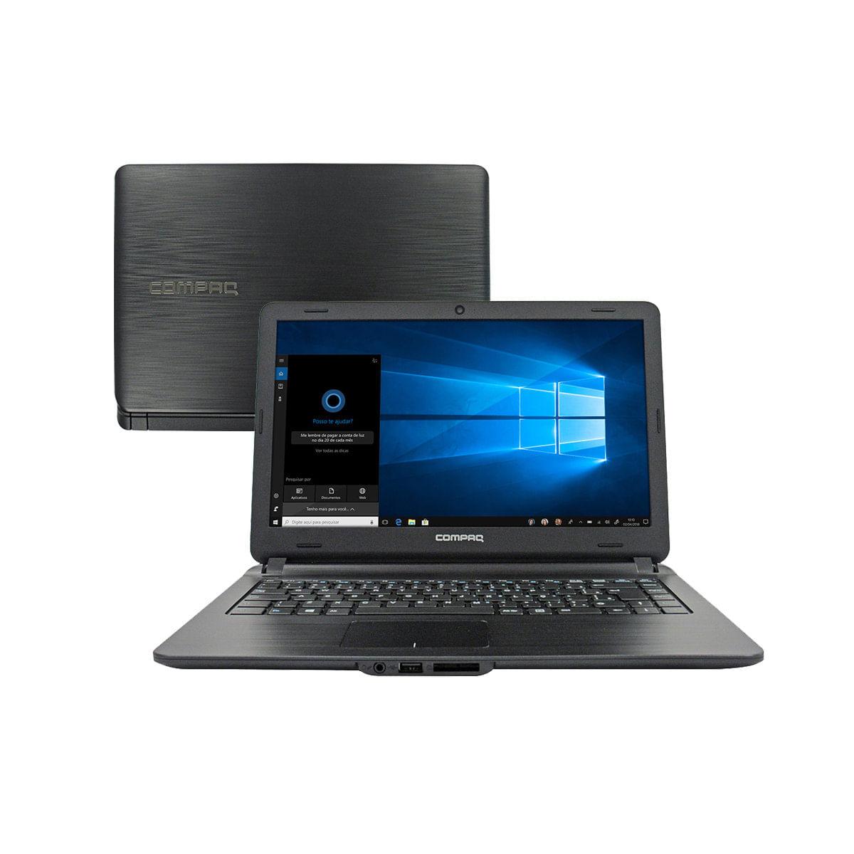 """Notebook - Compaq I3-5005u 2.00ghz 4gb 500gb Padrão Intel Hd Graphics 5500 Windows 10 Home 14"""" Polegadas"""