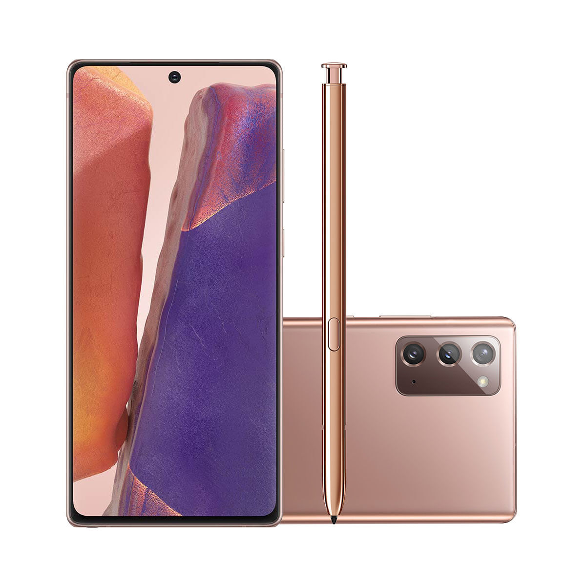"Smartphone Samsung Galaxy Note 20 256GB Mystic Bronze 5G Tela 6.7"" Câmera Tripla 64MP Selfie 10MP Android 10.0"