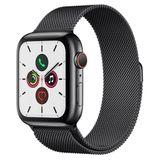 Apple Watch Series 5 Cellular + GPS, 44 mm, Aço Inoxidável Cinza Espacial, Pulseira de Aço Inoxidável Preto e Fecho Magnético - MWWL2BZ/A