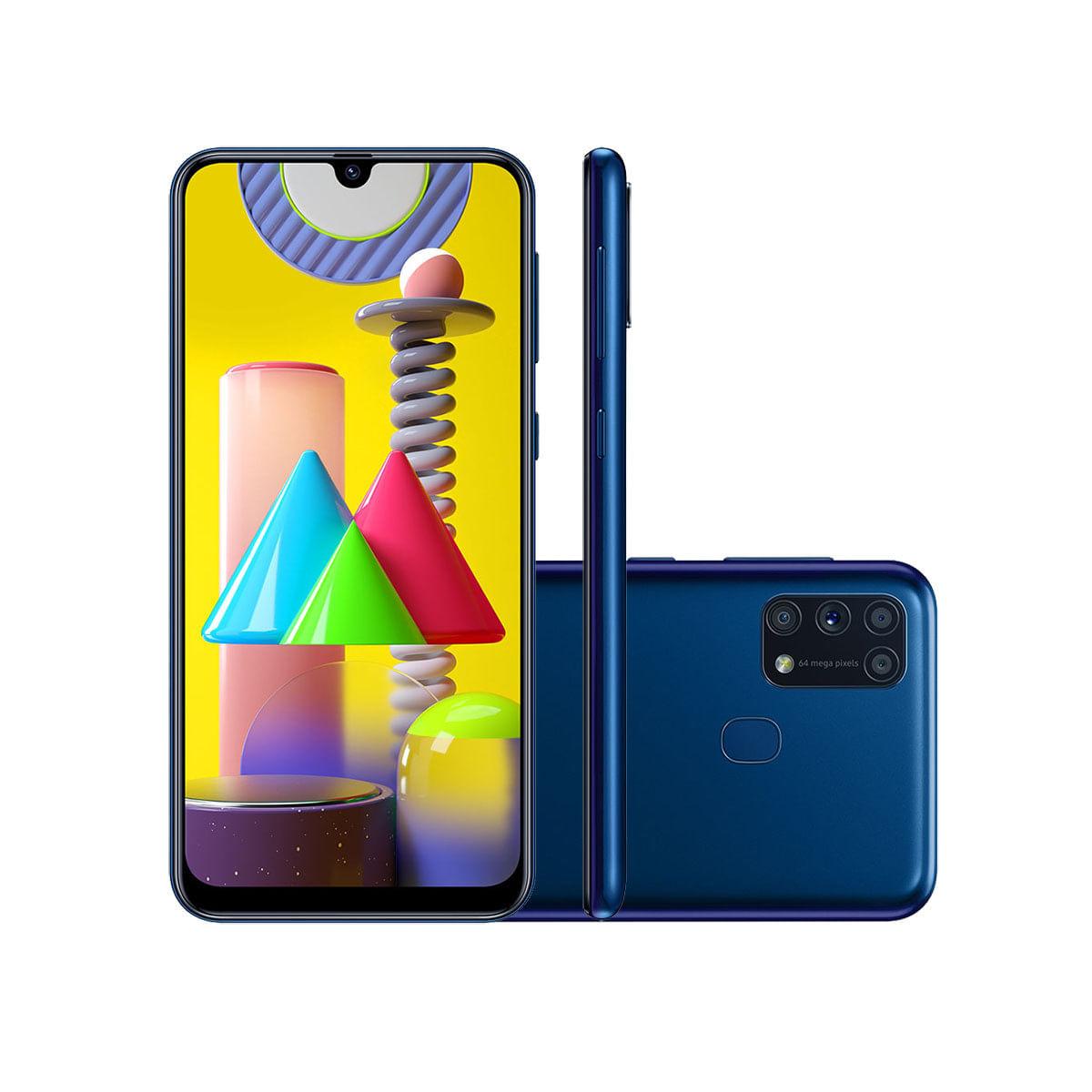 Celular Smartphone Samsung Galaxy M31 Sm-m315f 128gb Azul - Dual Chip