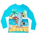 Camiseta Adulto Meninas Super Poderosas Surfistas ML