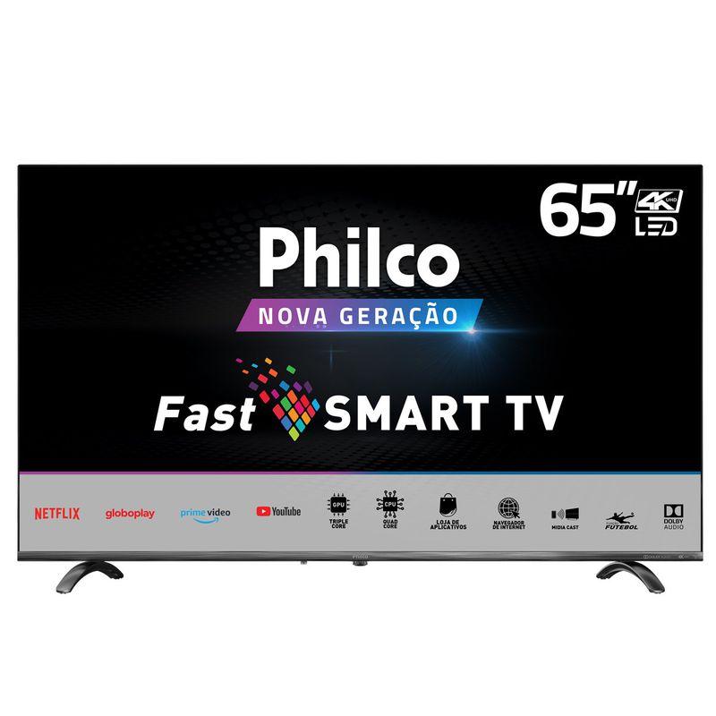 """Tv 65"""" Led Philco 4k - Ultra Hd Smart - Ptv65q20sblsg"""