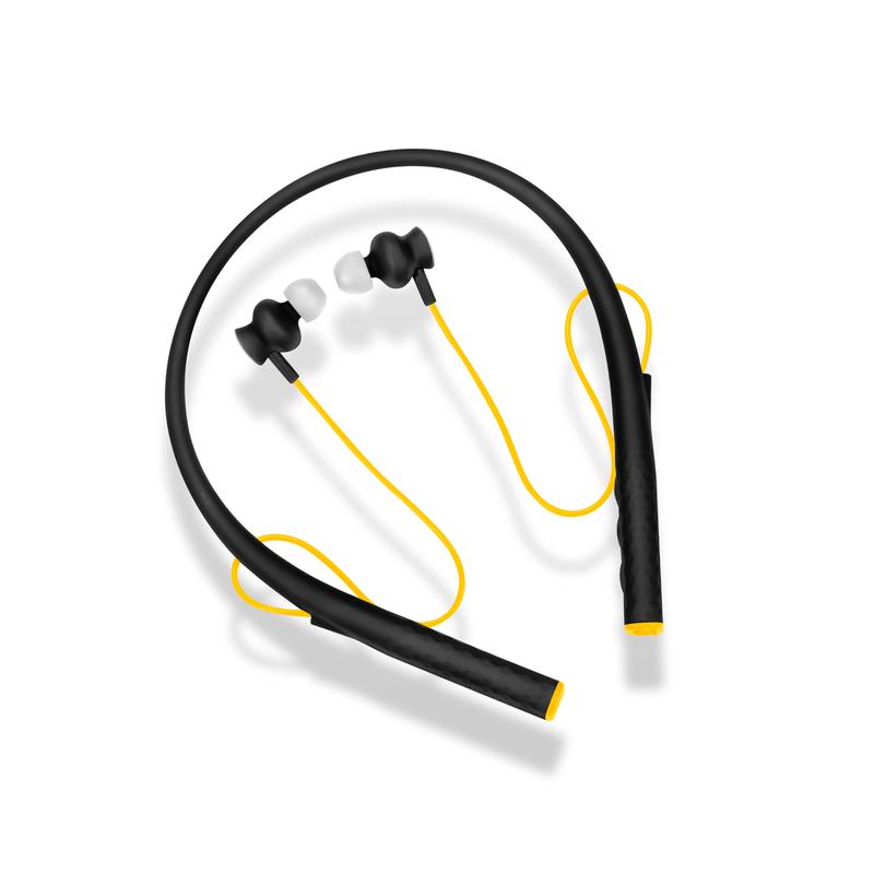 Fone de Ouvido Intra-auricular Rubber Arco Preto e Amarelo Pulse Sound Ph240